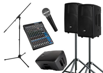 audio visual equipment for band