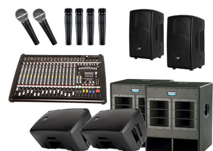 audio visual equipment for Perth bands